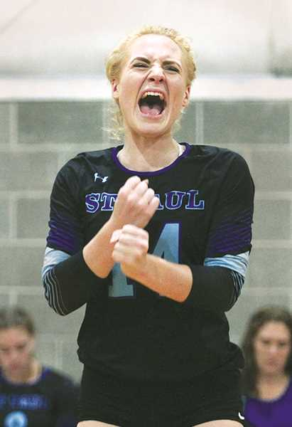 INDEPENDENT PHOTO: PHIL HAWKINS - SPHS senior Isabelle Wyss celebrates a point during a match last week