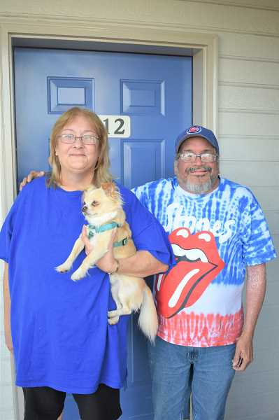 PMG PHOTO: EMILY LINDSTRAND - Larry and Anita Cutler are living at a Motel 6 in Portland after being unable to find housing in the Estacada area.