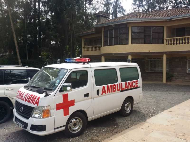 COURTESY OF GRACE KUTO - The Kutos were able to raise about $35,000 to purchase this ambulance for Chwele, Kenya, last year. They did so with help from Tigard Community Friends Church along with Tigard Rotary Club and other Rotary Clubs.