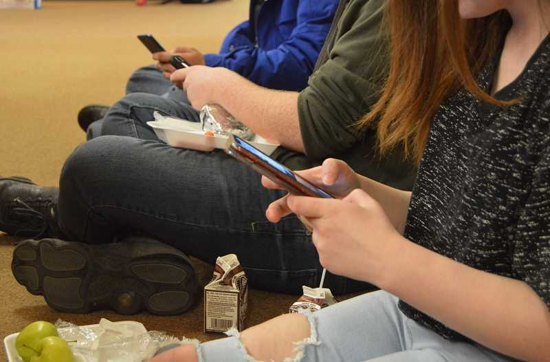 PMG FILE  PHOTO - Getting students to stop using cell phones at lunch and class breaks and interact with each other is the goal of the WL-WV School District.