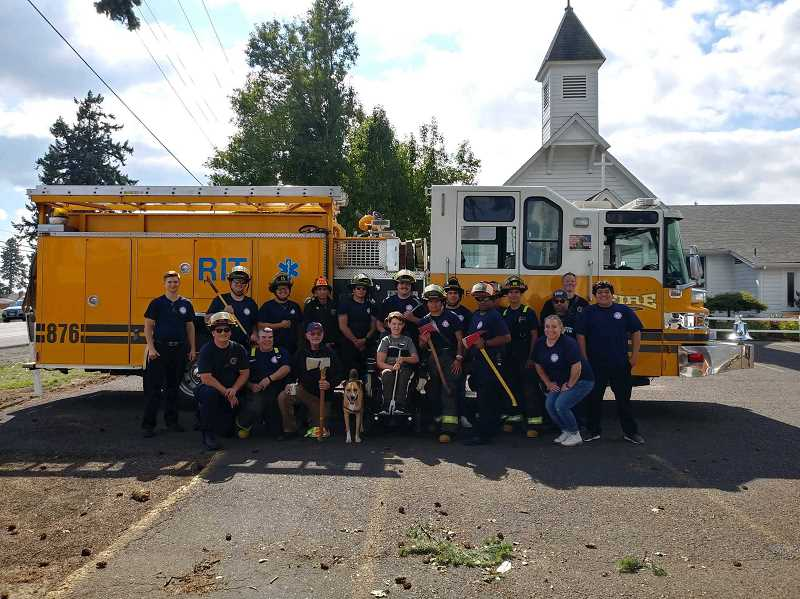 COURTESY OF HUBBARD FIRE DISTRICT - Hubbard Fire Districts Fill the Boot efforts on Saturday, Sept. 21, yielded more than 10k to combat muscular dystrophy.