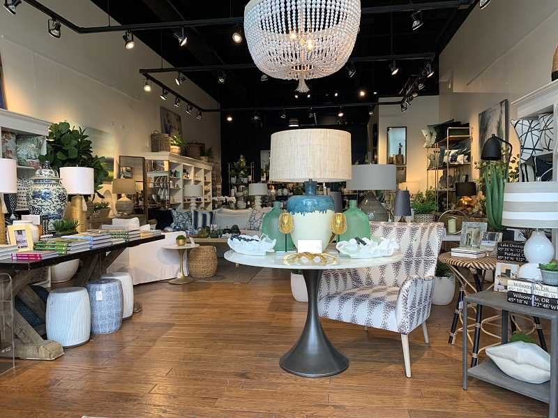 COURTESY PHOTO: KIM NILLES  - Wishbone Home & Designs new location at Lake View Village offers everything from furniture to lighting, art and other gift items.