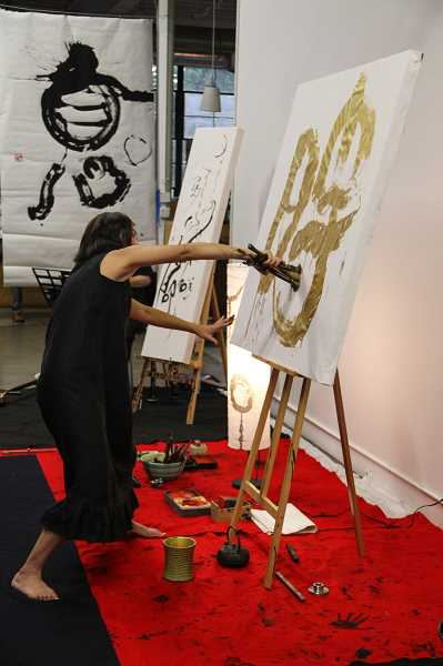 Sora Shodo says shodo calligraphy is more than just creating art; it involves breathing similar to yoga and meditation.