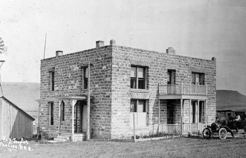 PHOTO COURTESY OF BOWMAN MUSEUM - The stone house was very modern for its time, nicely furnished and one of the most elaborate homes in the whole Paulina country.