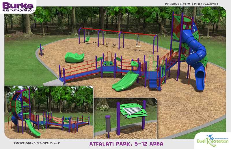 COURTESY TUALATIN PARKS & RECREATION - Heres a rendering of the type of equipment the city plans to install for younger kids at Atfalati Park during a recent city event.