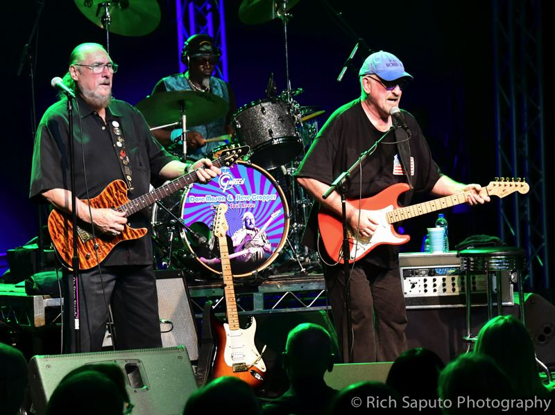 COURTESY PHOTO  - Steve Cropper, left, who has co-written or played on 1960s classics like 'Green Onions,' 'Sittin' on the Dock of the Bay,' 'In the Midnight Hour' will perform on Saturday with British rock legend Dave Mason, a founder of Traffic, whose 'Feelin' Alright' has been covered by no fewer than 50 major artists.
