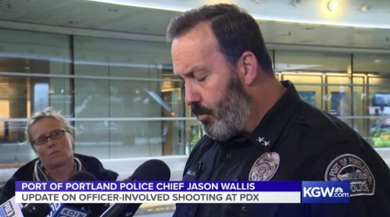 KOIN 6 NEWS - Portland of Portland Police Chief Jason Wallis briefed reporters on the shooting incident.