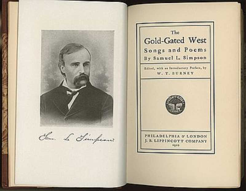 'The Gold-Gated West' collected the works of Oregon poet and journalist Samuel L. Simpson.