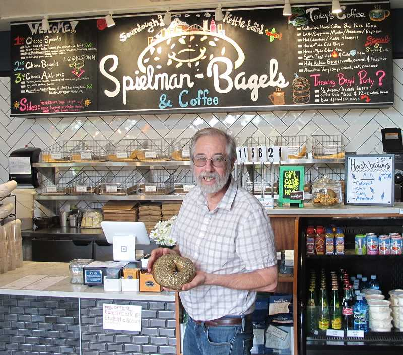 Rick Spielman says his coffee shop in Multnomah Village is one of his two favorites of the four locations he operates in Portland. His other favorite is the location at Southeast 21st and Division.