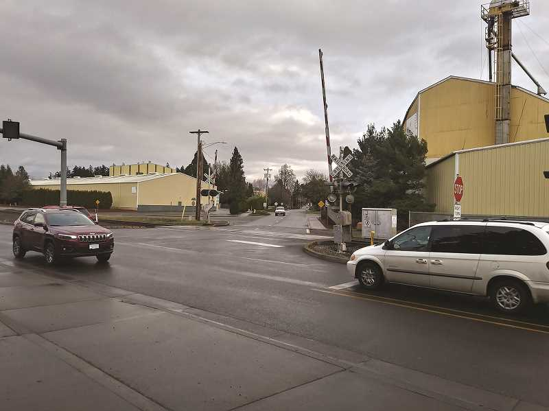 PMG PHOTO: JUSTIN MUCH - Construction project at the intersection of N Front St. and Hardcastle Ave. is expected to continue into December and will achieve a more fluid and safer intersection