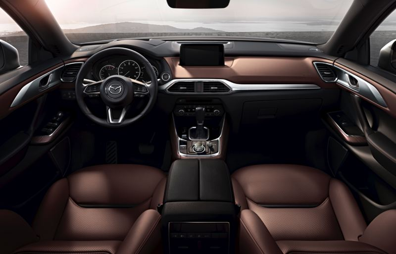 MAZDA NORTH AMERICAN OPERATIONS - The interior of the 2019 Mazda CX-9 Signature AWD is refined and has a suprisingly upscale feel for its price.