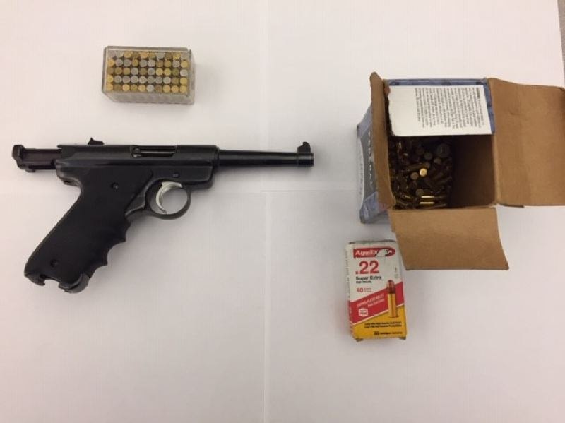 VIA PPB - Portland police say they confiscated this gun during a foot patrol.
