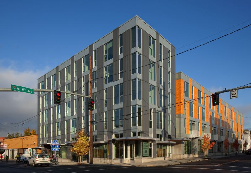 COURTESY: DON VALLASTER - The Central Eastside Lofts building combines market-rate apartments with ground-floor retail.