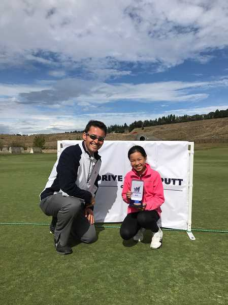 COURTESY PHOTO - Meurig Morgan and Kate Ly at the regional qualifying event at Chambers Bay Golf Club in Washington.