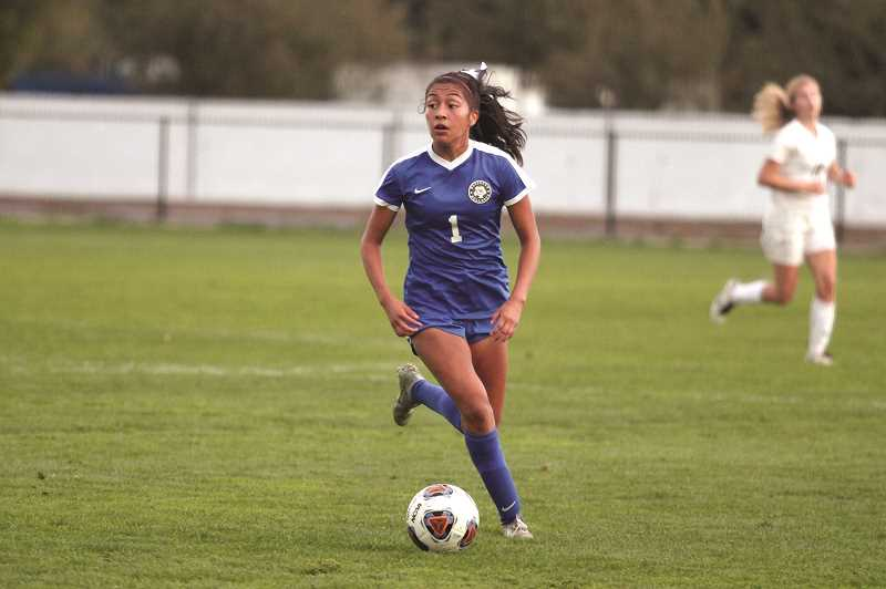 PMG PHOTO: PHIL HAWKINS - Myranda Marquez played a part in nearly every goal against Cascade, scoring three of her own and assisting on four more.