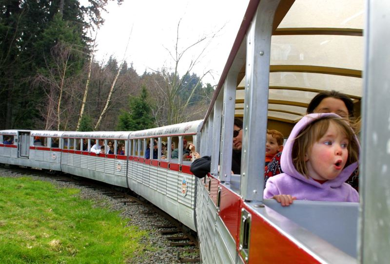 PMG FILE PHOTO - The Zooliner once traveled through Washington Park. A group trying to preserve the full zoo railway route will advocate for its nomination to the National Register of Historic Places at city and state commission meetings.