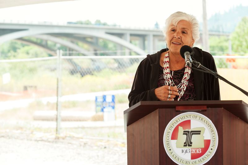 COURTESY PHOTO: ODOT - Esther Stutzman is a traditional American Indian storyteller of the Kalapuya/Coos heritage.