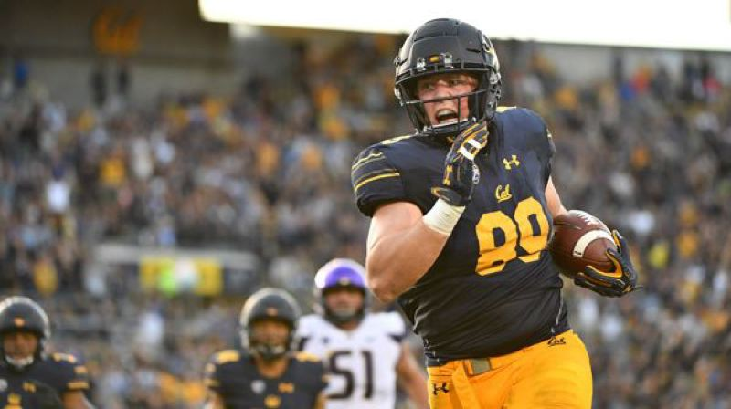 COURTESY PHOTO: AL SERMINO - Cal linebacker Evan Weaver, one of the Bears stars who will play Oregon on Saturday, returns an interception for a touchdown to spark coach Justin Wilcox's team to its 12-10 upset of Washington last year.