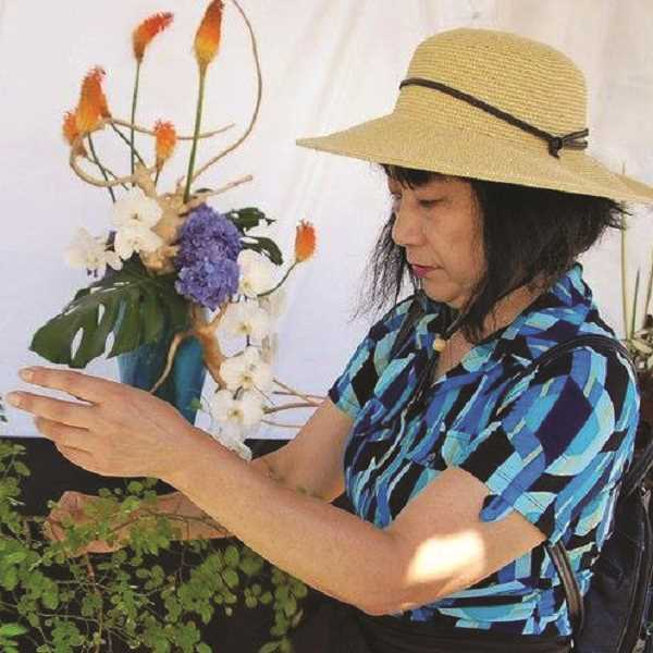 COURTESY PHOTO - Nana Goto Bellerud will be at the Molalla Public Library Oct. 5 for a Japanese flower arranging workshop.