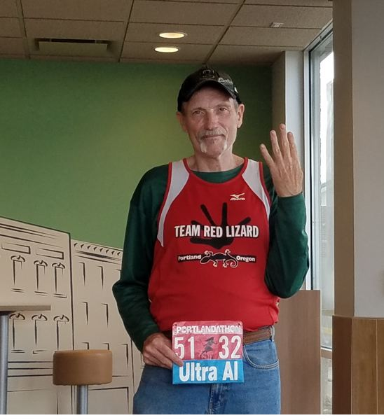 PMG PHOTO: PAUL DANZER - Sunday's Portland Marathon may take 65-year-old Al Miller six hours to complete, but if it's like his previous 39 runs in the event, hell wind up coming back for more.