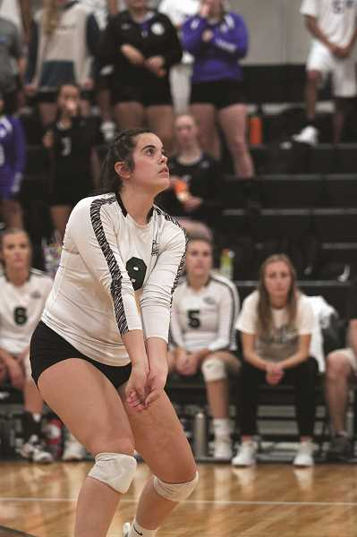 PMG PHOTO: PHIL HAWKINS - Kelsey Richardson and the Huskies have won five straight games without losing a set after claiming victory at the Elmira Tournament on Sept. 21 before home wins against Molalla and Madras.
