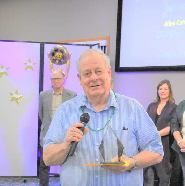 PMG FILE PHOTO - The Estacada Chamber of Commerce Community Recognition event is scheduled for 6 p.m. Saturday, Oct. 12, at Fireside Room at Estacada First Baptist Church. During last years event, Allen Cameron won a Lifetime Achievement Award.