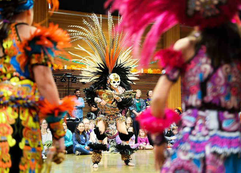 SUBMITTED PHOTO - Heucha Omeyocan Aztec dancers will perform Nov. 1 as part of the Day of the Dead celebration at the cultural center.
