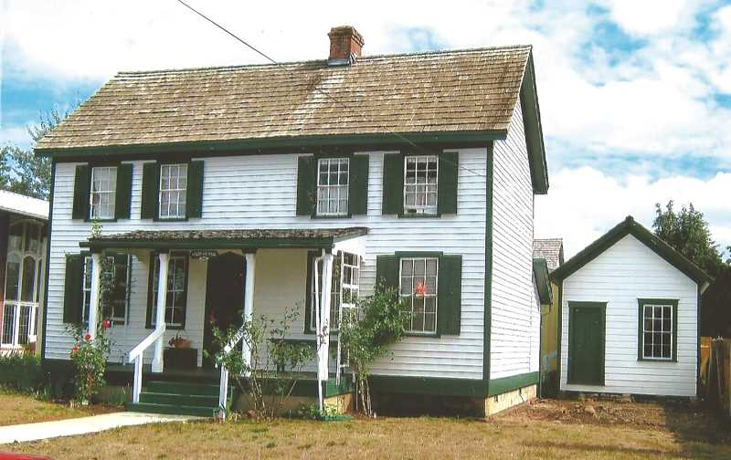 COURTESY PHOTO: MOLALLA AREA HISTORICAL SOCIETY - Today, the Vonder Ahe House is located at the Molalla Area Historical Society Complex at 600 S. Molalla Ave. in Molalla.