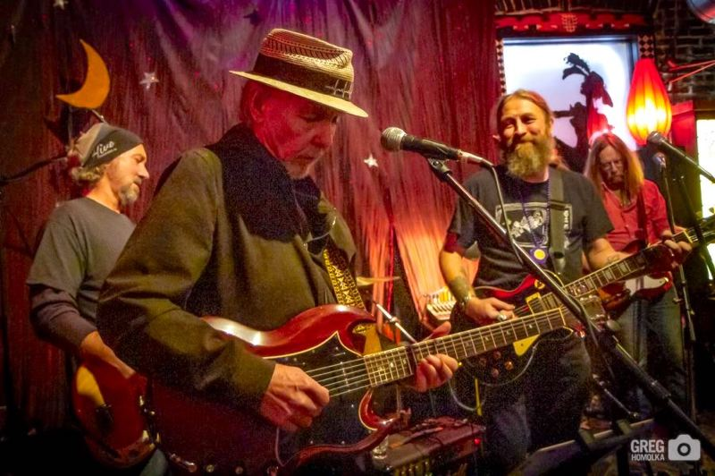 PMG FILE PHOTO - Turtle VanDemarr, foreground, will lead his ever-evolving vagabond band of pickers, collectively known as Turtles Guitar Mafia, on Friday, Oct. 4, at McMenamins Edgefield Winery. See listing for details.