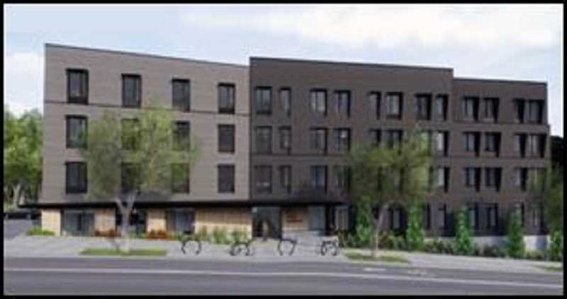 COURTESY OF COMMUNITY PARTNERS FOR AFFORDABLE HOUSING - The four-story Red Rock Creek Commons will be located at 11090 S.W. 68th Parkway in the Tigard Triangle urban renewal area.