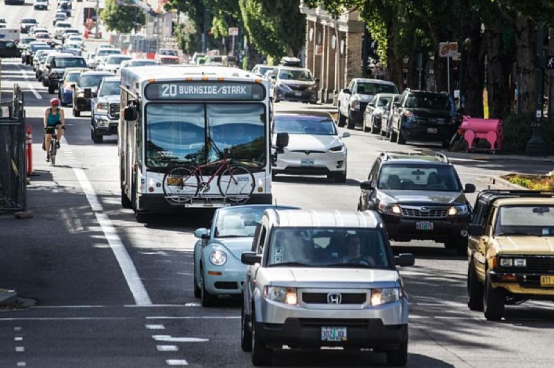 PMG FILE PHOTO - Congestion pricing is intended to reduce traffic and greenhouse gas emissions.