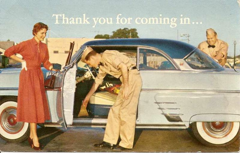 COURTESY PHOTO: GORETRO.COM - If you were living in America in the 1950s and 1960s you know what a service station experience could include. Those were the days, my friend.