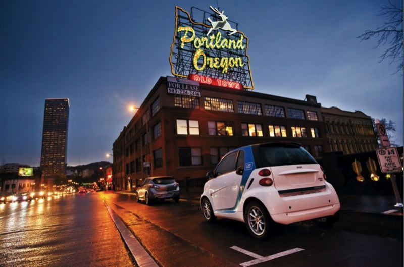 COURTESY PHOTO - Bite-sized Car2go vehicles are leaving Portland streets for good on Oct. 31.