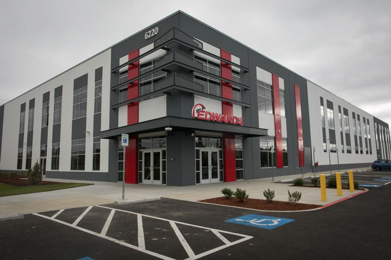 PAMPLIN MEDIA GROUP: JAIME VALDEZ - Edwards Vacuum's new American headquarters at 6220 N.E. Century Boulevard, Hillsboro. As well as offices, sales and training, the building receives parts from around the world which are then assembled and shipped off to big chipmakers.