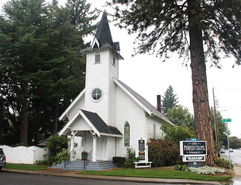 PMG PHOTO: KRISTEN WOHLERS - Canby Pioneer Chapel Performing Arts is located on NW 3rd Ave.