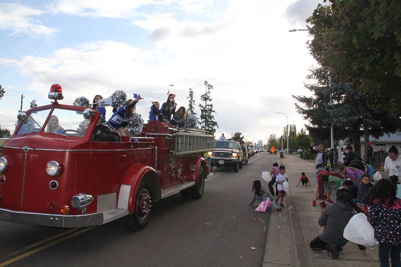 PMG PHOTO: JUSTIN MUCH - A variety of students from various Woodburn High School clubs, organizations and groups took part in the 2019 Homecoming Parade on Friday, Oct. 4.