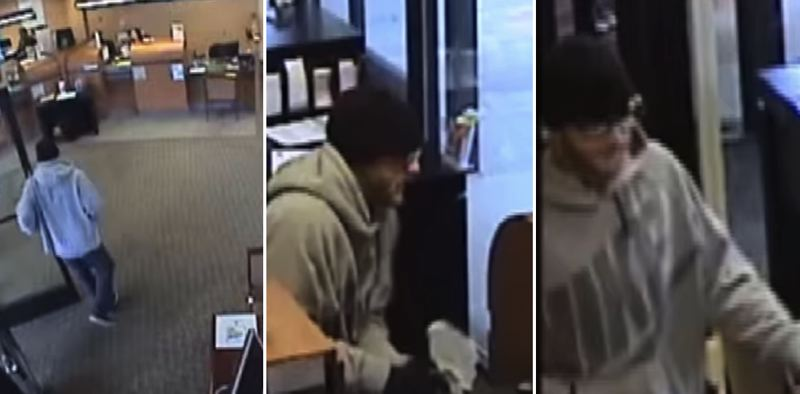 SCREENSHOTS - Police are seeking the public's help in identifying a bearded man who robbed Bank of the West in Tigard.