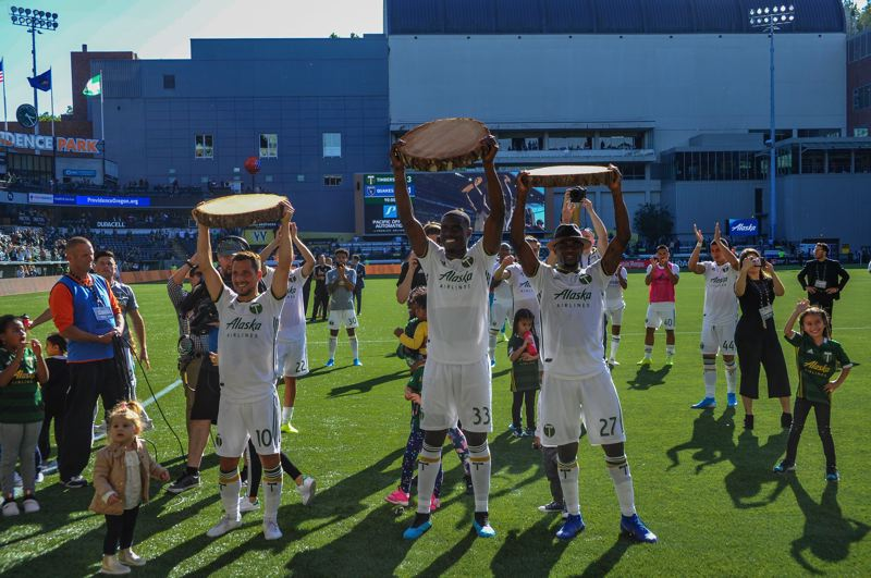 COURTESY PHOTO: DIEGO G. DIAZ - The Portland Timbers qualified for the MLS Cup playoffs with their 3-1 victory Sunday at home against the San Jose Earthquakes.