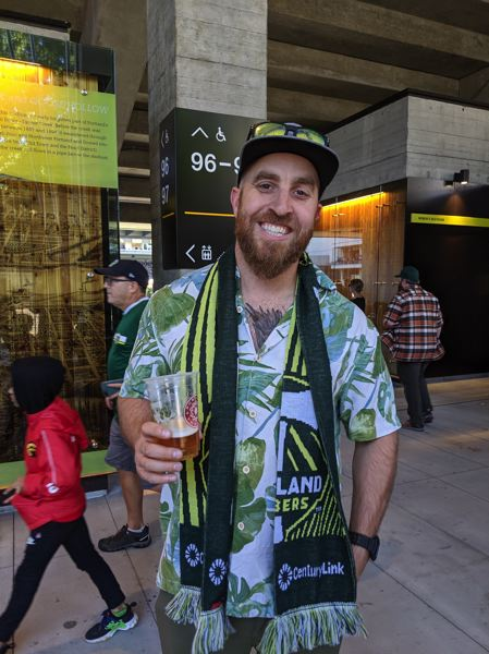 PMG PHOTO: JOSEPH GALLIVAN  - J.T. White, happy with the Timbers season.