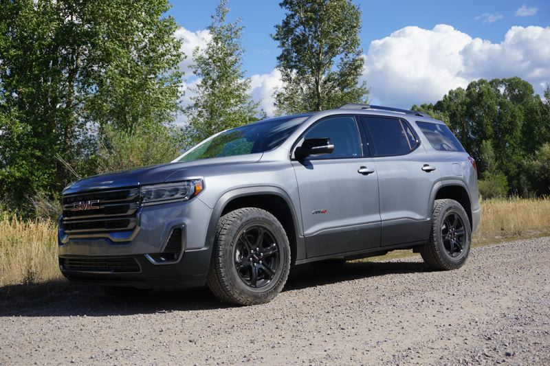 PMG PHOTO: JEFF ZURSCHMEIDE - The 2020 GMC Arcadia is available with a new AT4 package that adds a bold black-accented exterior look, a standard V6 engine, and a capable twin-clutch all-wheel-drive system.
