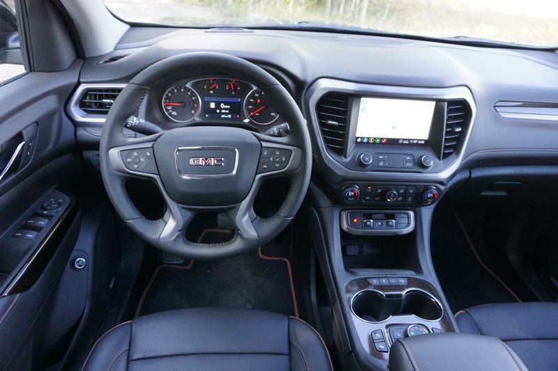 PMG PHOTO: JEFF ZURSCHMEIDE - The  comfortable interior of the 2020 Arcadia feature's GMC's newest infotainment system that can be tailored for four different drivers.