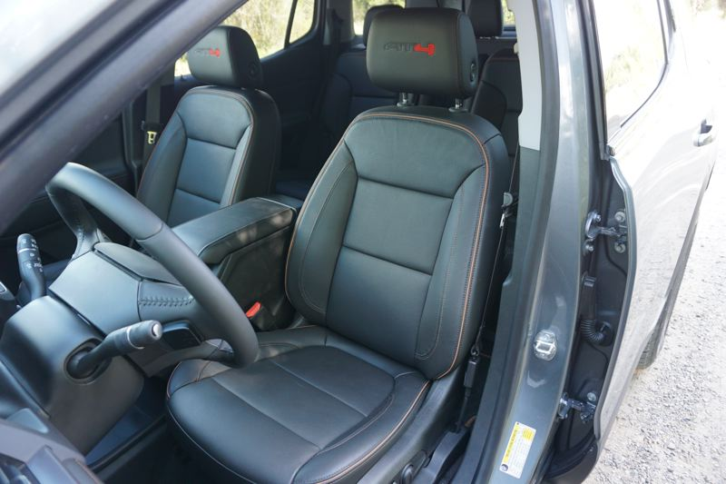 PMG PHOTO: JEFF ZURSCHMEIDE - Long trips are a breeze in the supportive front bucket seats of the 2020 GMC Arcadia.