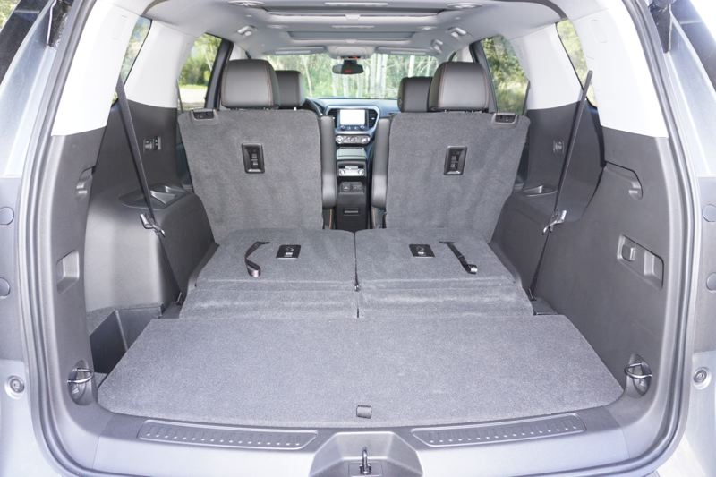 PMG PHOTO: JEFF ZURSCHMEIDE - The 2020 GMC Arcadia offers plenty of storage space when the rear seats are folded flat.