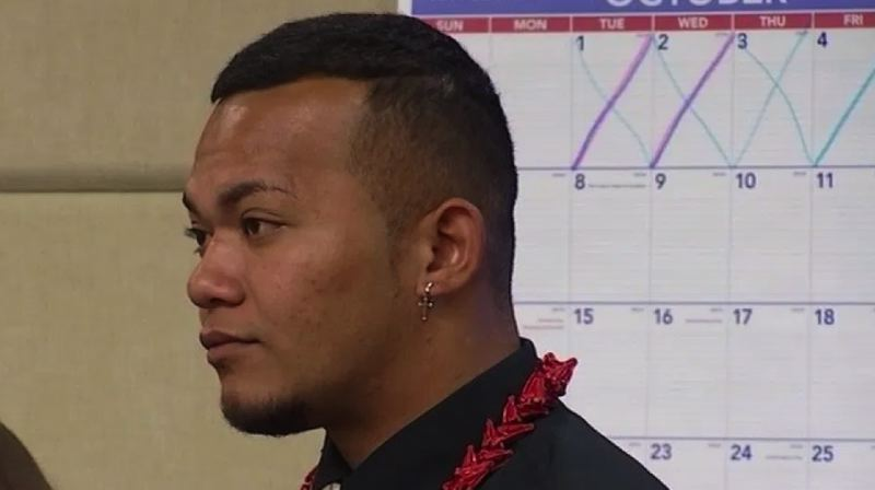 KOIN 6 NEWS IMAGE - Tusitala Toese appeared in a Multnomah County courtroom for his first appearance on assault charges on October 7, 2019