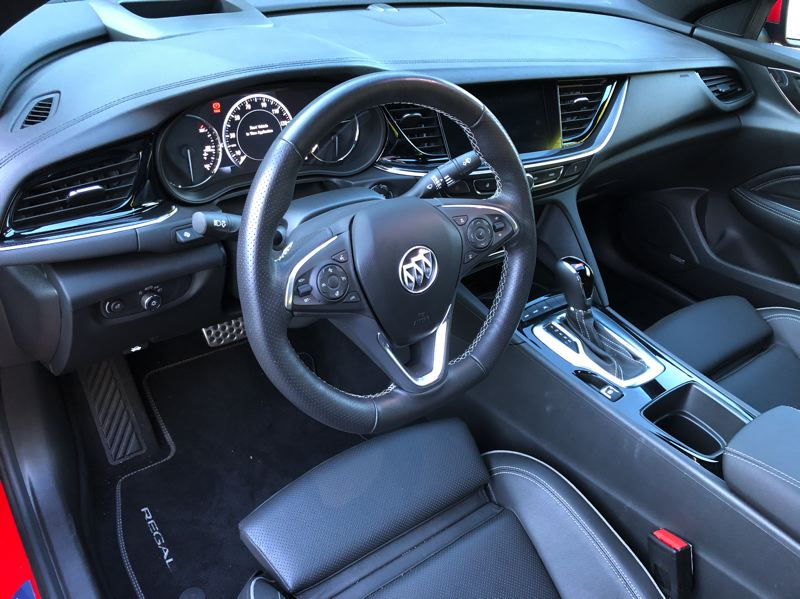 PMG PHOTO: JEFF ZURSCHMEIDE - Inside, the 2019 Regal delivers the tech and luxury you expect from a premium model.