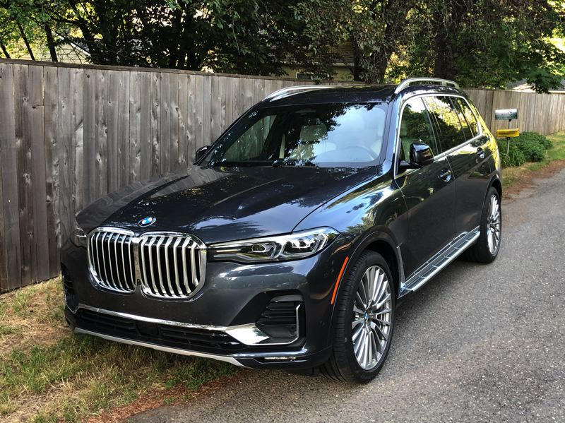 PMG PHOTO: JEFF ZURSCHMEIDE - The BMW X7 is the largest vehicle BMW has ever made, with seating for seven passengers in three rows, but surprisingly good road manners.