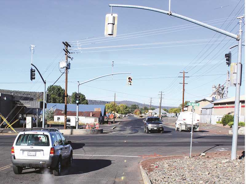 JASON CHANEY - Northeast 10th Street and Lamonta Road do not meet North Main Street at the same spot in the intersection, so City of Prineville workers will realign the intersection next year to correct the problem and make other safety upgrades.