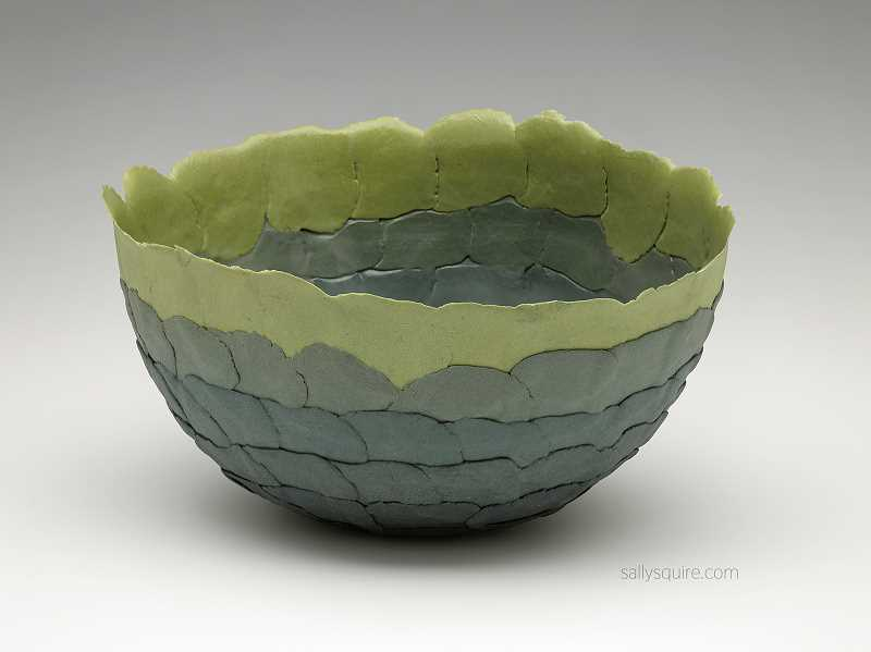 Sally Squire's colored wafer bowl