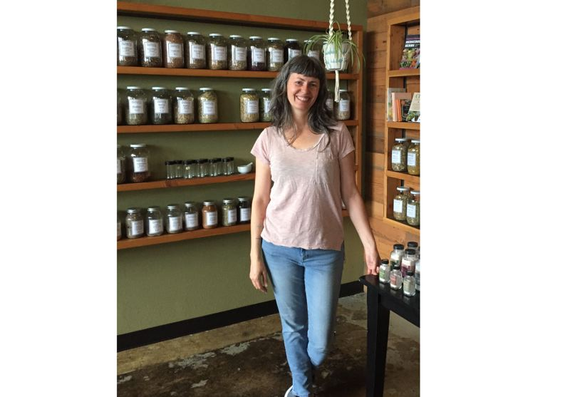 COURTESY PHOTO - Branda Tiffany was featured in a Clackamas Review article in December 2017 after she expanded her storefront for Molly Muriel products.