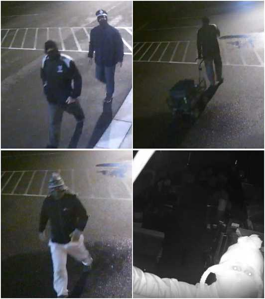 COURTESY PHOTO: CRIME STOPPERS OF OREGON - The Clackamas County Sheriff's Office, along with Crime Stoppers of Oregon, is seeking the public's help to identify these unknown suspects who robbed Markum Inn on Sept. 16.